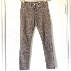 Kenneth Cole leopard print jeans Sz 25